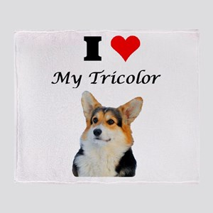 I love my Tricolor Corgi Throw Blanket