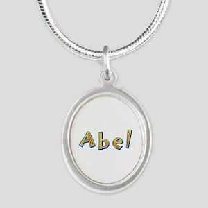 Abel Giraffe Silver Oval Necklace