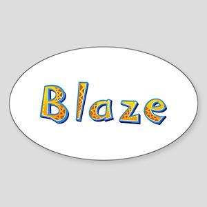 Blaze Giraffe Oval Sticker