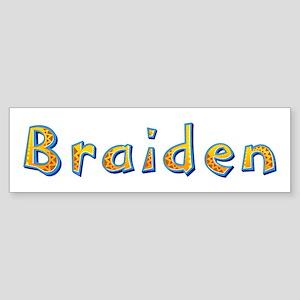 Braiden Giraffe Bumper Sticker