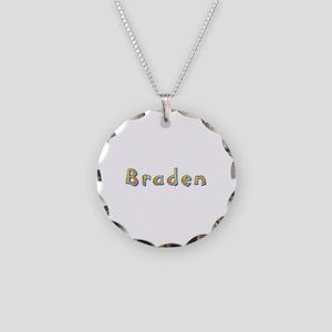Braden Giraffe Necklace Circle Charm