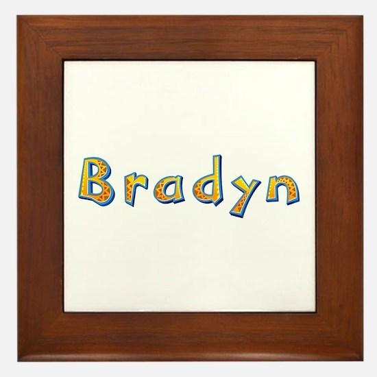 Bradyn Giraffe Framed Tile