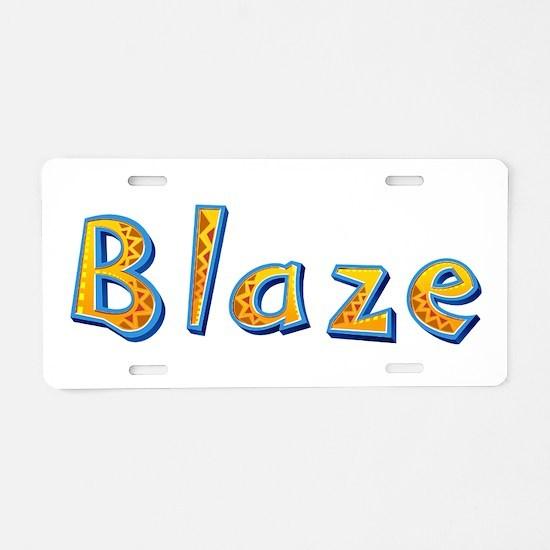 Blaze Giraffe Aluminum License Plate