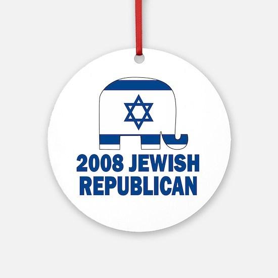 Jewish Republican Ornament (Round)