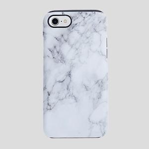 White & Gray Faux Marble iPhone 7 Tough Case