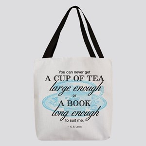 Tea Quote Polyester Tote Bag
