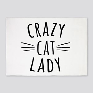 Crazy Cat Lady 5'x7'Area Rug