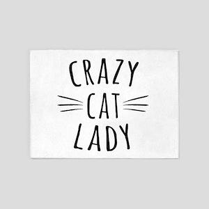 Crazy Cat Lady 5'x7'Area Rug