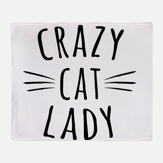 Crazy Cat Lady Throw Blanket