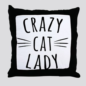 Crazy Cat Lady Throw Pillow
