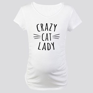 Crazy Cat Lady Maternity T-Shirt