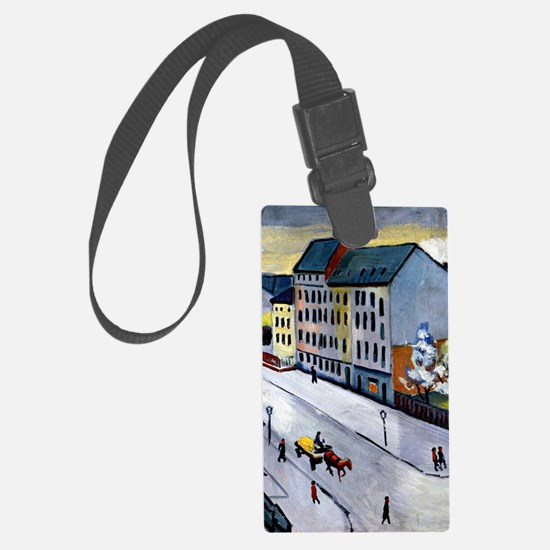 Macke - Our Street in Gray, 1911 Luggage Tag