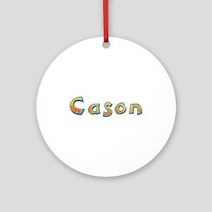 Cason Giraffe Round Ornament