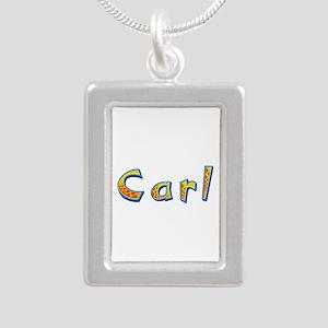 Carl Giraffe Silver Portrait Necklace