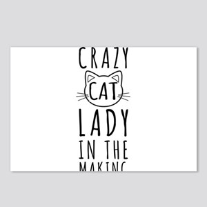 Crazy Cat Lady In The Making Postcards (Package of