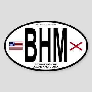 Birmingham Alabama Sticker - BHM (Oval)