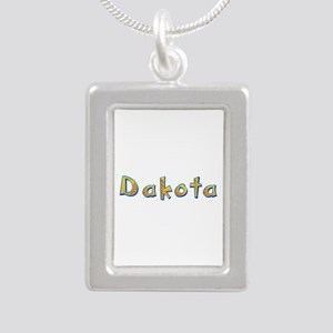 Dakota Giraffe Silver Portrait Necklace