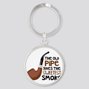 The Old Pipe Gives The Sweetest Smoke Keychains