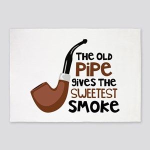 The Old Pipe Gives The Sweetest Smoke 5'x7'Area Ru
