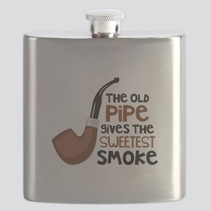 The Old Pipe Gives The Sweetest Smoke Flask