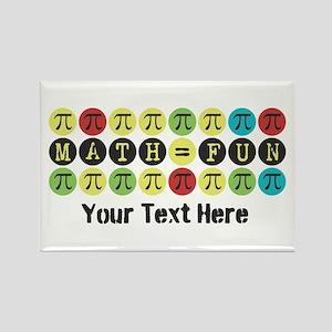 Customize Math = Fun Rectangle Magnet