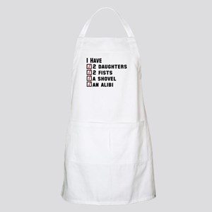 Daughter Fists Shovel Alibi Apron