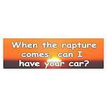 The Rapture Bumper Sticker