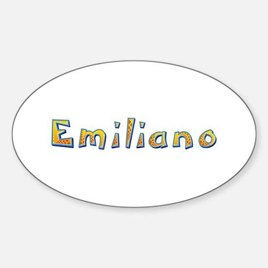 Emiliano Giraffe Oval Decal