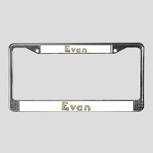 Evan Giraffe License Plate Frame