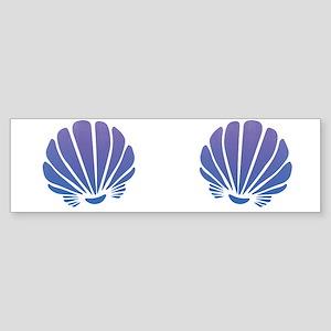 Mermaid Shells Chest Bumper Sticker