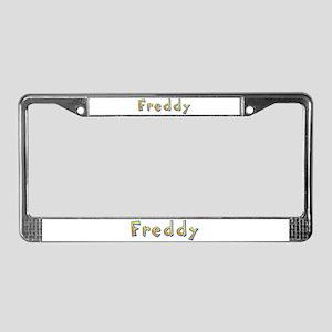 Freddy Giraffe License Plate Frame