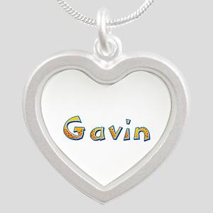 Gavin Giraffe Silver Heart Necklace