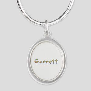 Garrett Giraffe Silver Oval Necklace