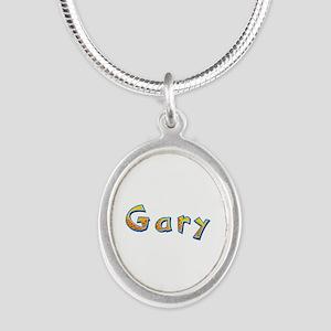 Gary Giraffe Silver Oval Necklace