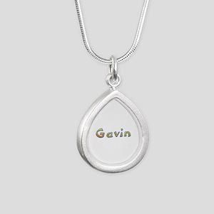 Gavin Giraffe Silver Teardrop Necklace