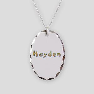 Hayden Giraffe Oval Necklace