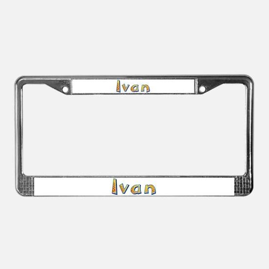 Ivan Giraffe License Plate Frame