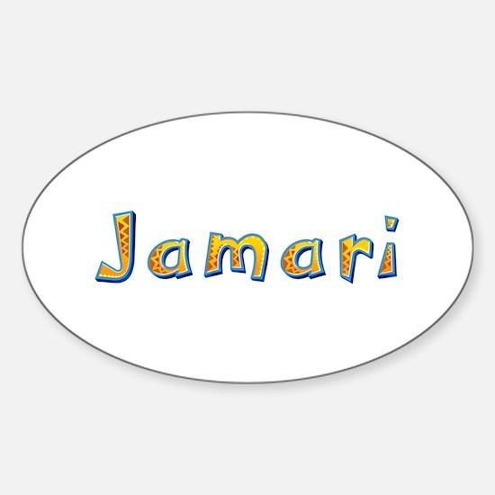 Jamari Giraffe Oval Decal