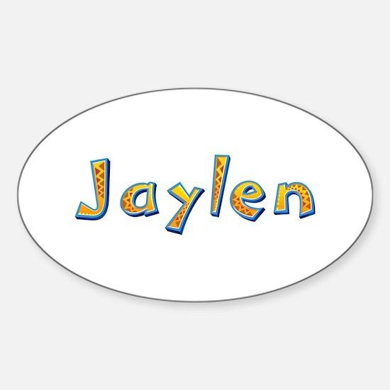 Jaylen Giraffe Oval Decal