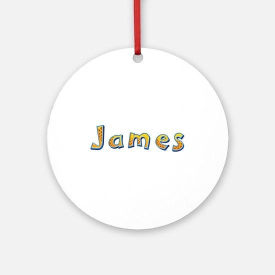 James Giraffe Round Ornament