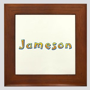 Jameson Giraffe Framed Tile