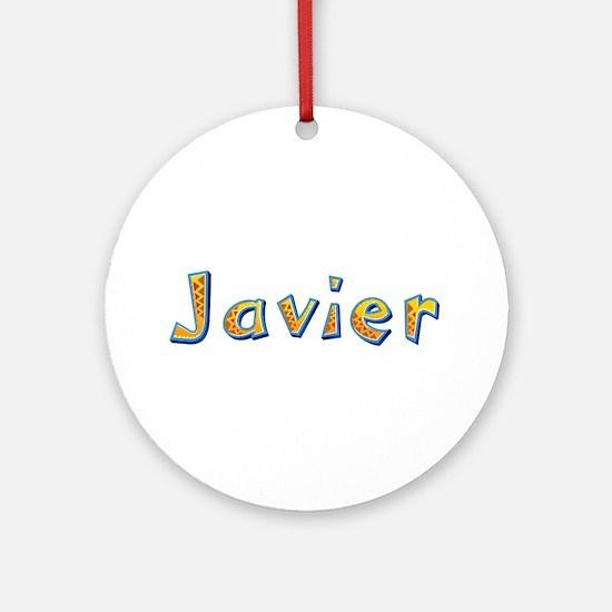Javier Giraffe Round Ornament