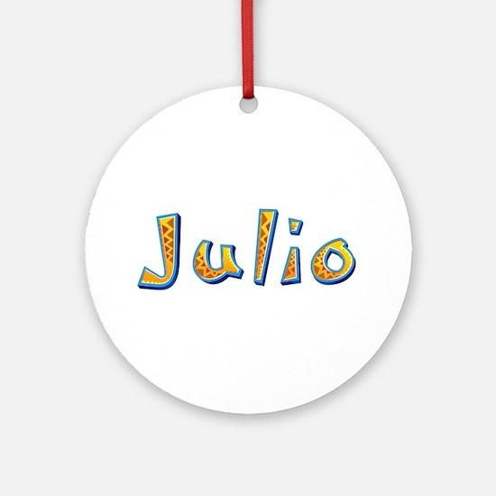 Julio Giraffe Round Ornament