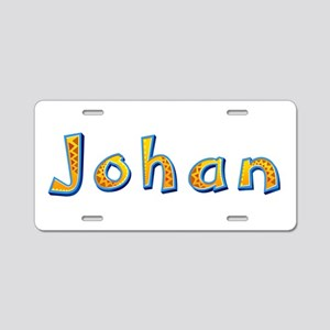 Johan Giraffe Aluminum License Plate