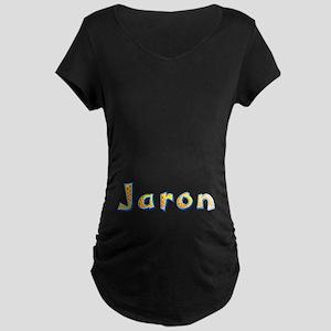 Jaron Giraffe Maternity Dark T-Shirt