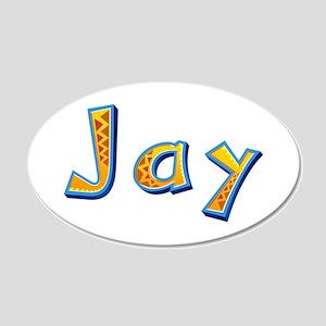 Jay Giraffe 20x12 Oval Wall Decal