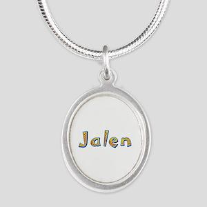 Jalen Giraffe Silver Oval Necklace