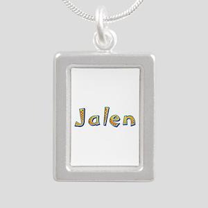 Jalen Giraffe Silver Portrait Necklace