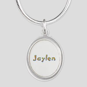 Jaylen Giraffe Silver Oval Necklace