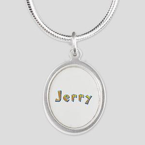 Jerry Giraffe Silver Oval Necklace